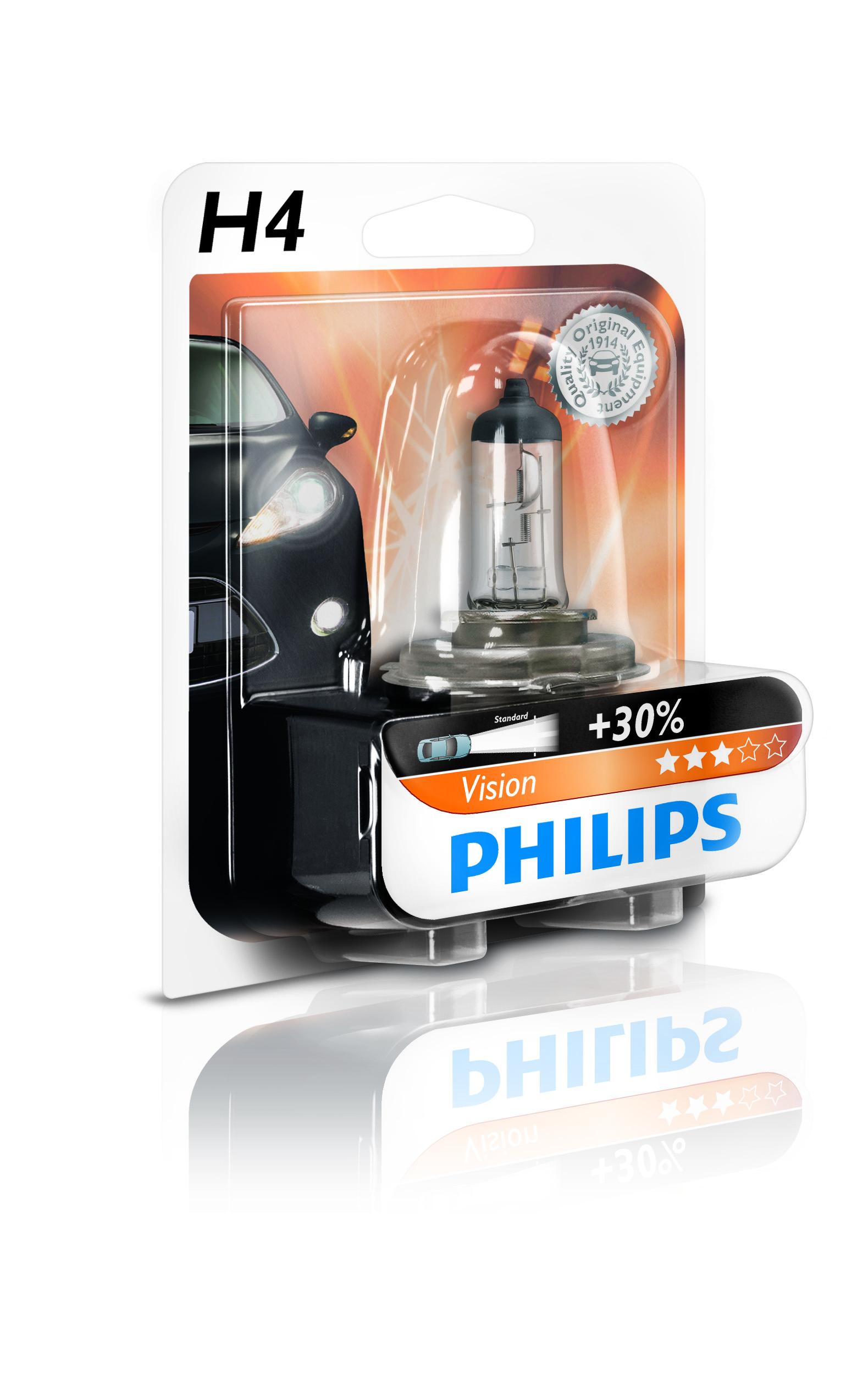 philips h4 vision 12v 60 55w 30 blister nr. Black Bedroom Furniture Sets. Home Design Ideas