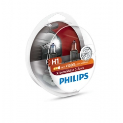 PHILIPS H1 X-tremeVision G-FORCE 10G 12V 55W SET 130%